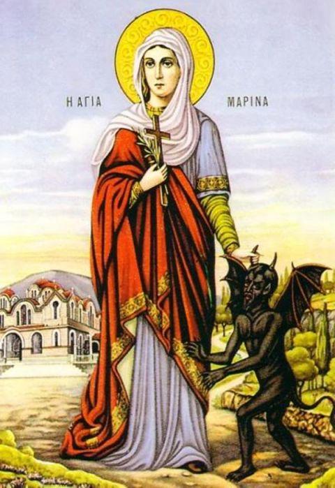 ЦЪРКВАТА ПОЧИТА ДНЕС СВЕТА МАРИНА