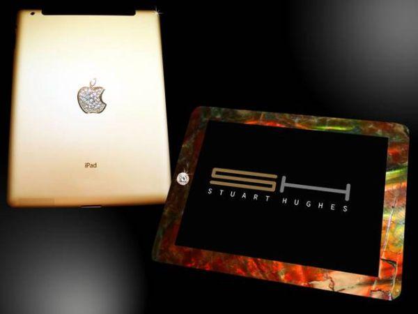 """""""ИСТОРИЧЕСКИ"""" iPad 2 ОТ 24 КАРАТОВО ЗЛАТО И КОСТ НА ТИРАНОЗАВЪР"""